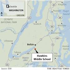 Seattle Police Map Police Reports Of Shooter At Hawkins Middle In Mason