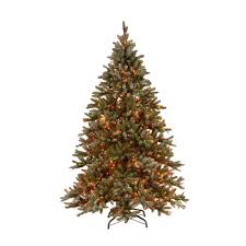 martha stewart living 7 5 ft pre lit snowy pine artificial