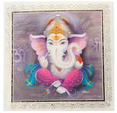 Wedding Invitation Hindu Ganesh Purple 3d Ganesha Wedding Card In Pink And Blue Wedding Invitations