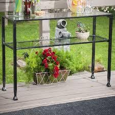 Outdoor Console Table Outdoor Concrete Console Table Wayfair