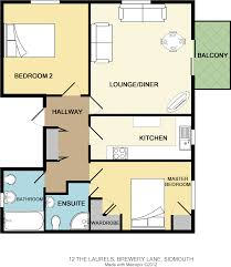 The Laurels Floor Plan by 2 Bedroom Flat For Sale In The Laurels Sidmouth Devon Ex10