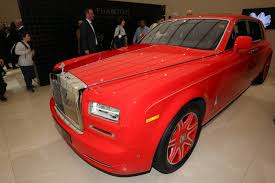 roll royce red is this the gaudiest series production rolls royce phantom ever