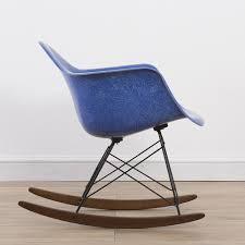 Electric Rocking Chair 1 X Herman Miller Original Eames Electric Blue Fiberglass Rar