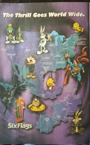 Six Flags America Map by Smurf Theme Park Village Six Flags Movie Tv Sports Ip Theme Park