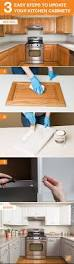 get look kitchen cabinets easy way diy tutorial