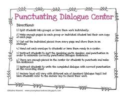 teaching dialogue in writing freebie by kristine nannini tpt
