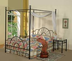Black Canopy Bed Amazon Com Black Metal Sunburst Canopy Bed Full Size Bed Frame
