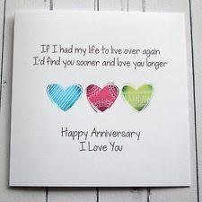 Anniversary Cards And Stationery Ebay Handmade Anniversary Cards Ebay