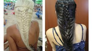 mermaid french braid hairstyle for medium long hair tutorial youtube