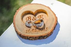 wedding ring holder 20 00 usd personalized wood ring holder rustic wedding ring