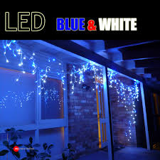 blue white christmas lights my store online festival decoration and lighting icicle fairy