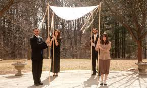 chuppah poles buy ribbons to decorate huppah chuppah