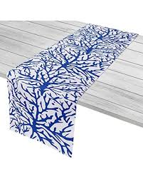 blue and white table runner amazing deal island home igh trm109 coral cobalt table runner