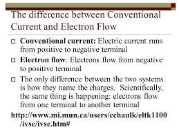 http www current resistance and ohm s law electron flow vs conventional current