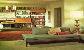 1960s living room with lps wine rack and extremely uncomfortable