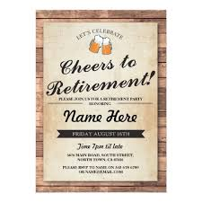 retirement invitations retirement party cheers beers wood pub invitation zazzle