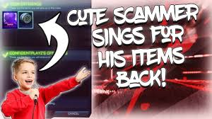 his and items cutest scammer sings for his items back on rocket league