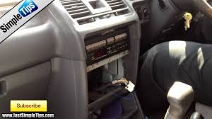 radio removal mitsubishi pajero justaudiotips youtube