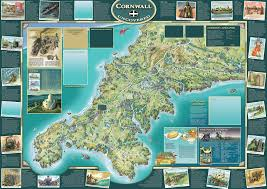 Newcastle England Map by Cornwall Srstudio Near Truro Cornwall Illustrated Map ღ