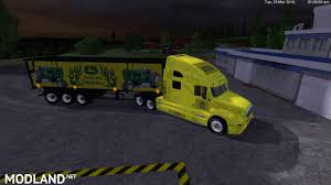 minecraft semi truck john deere kenworth cat truck and john deer semi trailer v 1 0 by