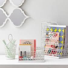 Design Desk Accessories Wire Scallop Desk Accessories Pbteen