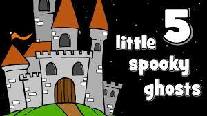 five little spooky ghosts halloween songs for kids youtube