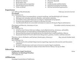 Paralegal Resume Samples by Paralegal Resume Sample Template Examples
