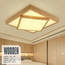 illuminazione a soffitto a led moderno legno quadrato illuminazione a soffitto lade led per