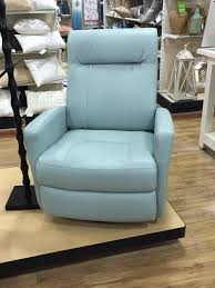 home goods leather recliner in light blue home pinterest