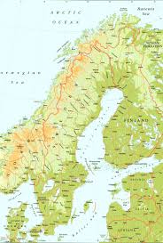 map of sweden large detailed elevation map of sweden with roads and cities