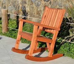 Unfinished Wood Rocking Chair Massive Wood Rocking Chair Custom Redwood Rockers
