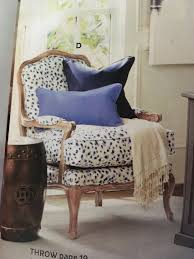 spotted chair with exposed wood legs trim ballard designs spotted chair with exposed wood legs trim ballard designs