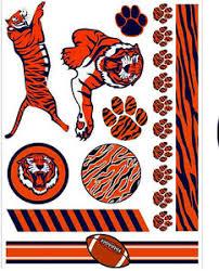 tiger football paws temporary tattoos silver orange black ebay