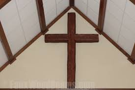 church ceiling designs with beams faux wood workshop