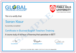 Business English Letter Sample by Business English Tefl 60 Hours Global Training Academy