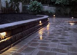Patio Wall Lighting Paver Patio Seat Wall Contemporary Patio Portland By