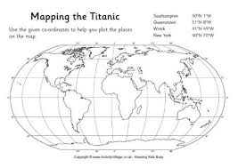 mapping the titanic worksheet