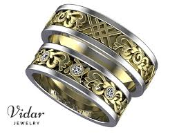 Wedding Rings His And Hers by Heart Design Unique Matching Wedding Bands His And Hers Vidar