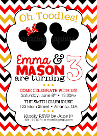 design mickey and minnie mouse birthday invitations free