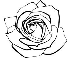 design flower rose drawing free line drawing of a rose download free clip art free clip art