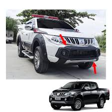 mitsubishi l200 2015 front bumper guard cover matte black 1 pc for mitsubishi l200