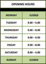opening hours inspire hair salon