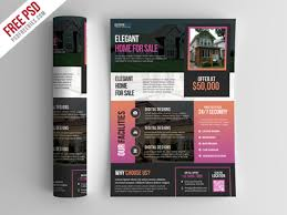 real estate brochure templates psd free free psd real estate flyer template psd by psd freebies dribbble