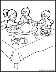 Kids Coloring Table Mom U0027s Frugal Color Me Thanksgiving Links For Kids