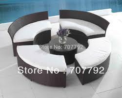 2017 patio seating set outdoor terrace furniture circular patio