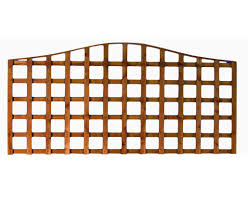 contoured top heavy duty trellis panel stockport fencing