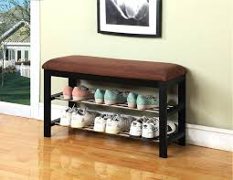 entryway bench with baskets and cushions entry bench with shoe storage canada coaster entryway throughout