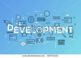 pattern language of program design backend frontend software development program coding stock vector
