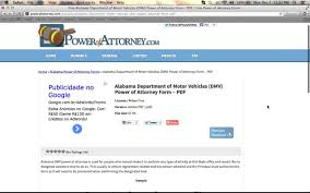 Free Medical Power Of Attorney Form Pdf by Free Alabama Dmv Power Of Attorney Youtube