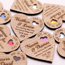 diy save the dates save the date wood heart magnet wooden wedding magnets coloured